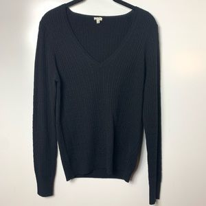 J.Crew sweater wool cashmere v neck women's medium